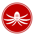 Octopus button vector image vector image