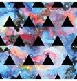 Galaxy seamless pattern vector image vector image