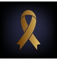 Black awareness ribbon sign vector image