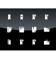 Bookmark tag favorite icons on black background vector image