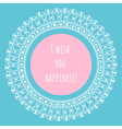 Decorative frame with space for text hand-drawn vector image