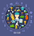 golf club round composition vector image