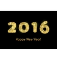 Happy New Year 2016 golden greeting card made in vector image