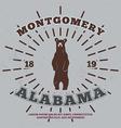 Montgomery Alabama t-shirt graphic vector image