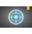 neon target isolated game interface element vector image