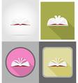 school education flat icons 11 vector image