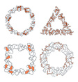 Set 4 Christmas framework from festive elements vector image