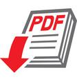 PDF Download Icon vector image vector image