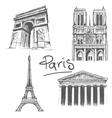 Parisian architecture vector image
