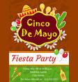 cinco de mayo invitation template flyer mexican vector image