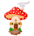 Mushroom house cartoon vector image