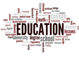 Education Word Cloud Bubble Tags Tree vector image vector image