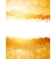 A gold and yellow sparkle card background EPS 8 vector image vector image
