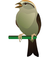 little bird perched on twig vector image vector image