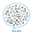 Social media icons isolated on white background vector image
