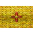Flag of New Mexico on a brick wall vector image