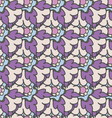 Bright purple hand drawn seamless pattern vector image