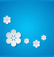 background with flowers vector image