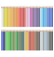 color pencils isolated on white background close vector image