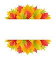 Colorful Autumn Background with Leaves vector image