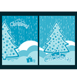 Decorated Christmas tree New Years celebration vector image