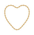 gold chain in shape of heart vector image