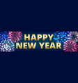 horizontal web banner with fireworks vector image