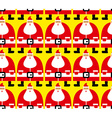 Many Santa Christmas seamless pattern Fabric vector image