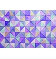 Watercolor triangles background vector image