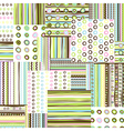 Patchwork fabric background vector image vector image