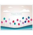 Easter eggs that looks like flowers in retro vector image vector image