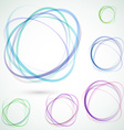 Bright colorful circle design elements set vector image