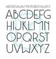 Medium sans serif font in classic style vector image
