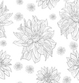 hand drawn floral wallpaper with set of different vector image vector image