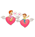 set cartoon character for Valentines Day vector image