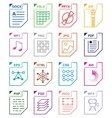 File format set icons vector image