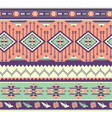 Aztecs seamless pattern on pink color vector image