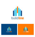 building line color logo vector image