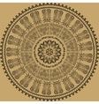 Decorative Light Brown Seamless Pattern vector image