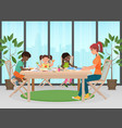 happy family mother and kids together paint vector image