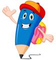 Pencils cartoon with school bags vector image