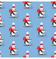 penguin seamless pattern vector image