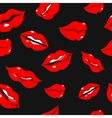 Seamless pattern with red sexy woman lips vector image