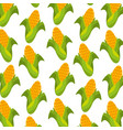 sweet corn cartoon thanksgiving day seamless vector image