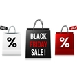 White black and red Black Friday Sale shopping vector image