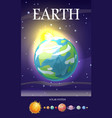 earth planet sun system universe vector image vector image