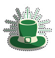 green hat accessory st patrick vector image
