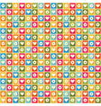color pattern with hearts and flowers vector image
