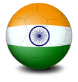 A soccer ball with the flag of India vector image vector image