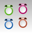 Set of colorful metalic clip vector image